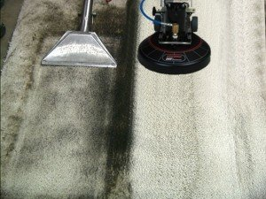 Old fashioned steam cleaning wand on the left compared to the state-of-the-art Rotovac system on the right.