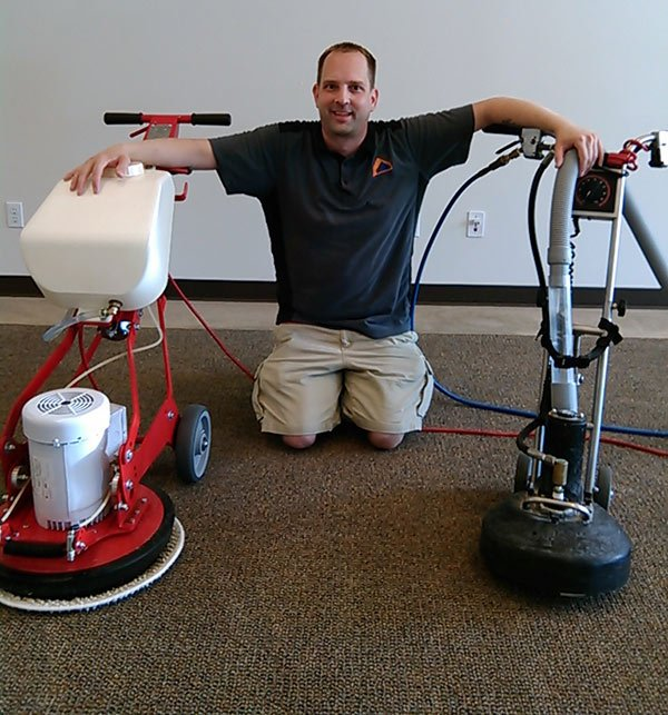 Owner Dan Baxter with the Rotovac Cleaning System and Applied Physics Extraction Systems