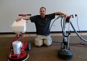 Owner Dan Baxter with the Rotovac Cleaning System